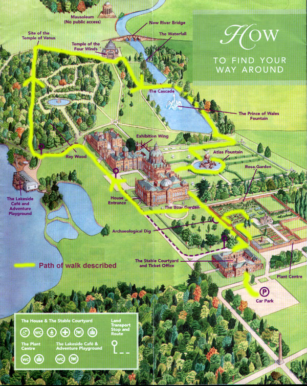 Walks in Yorkshire - Walks, accommodation, entertainment and much more ...: www.daleswalks.co.uk/walks/castle_howard_grounds/map.shtml